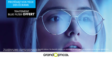 Offre blue filter chez Grand Optical