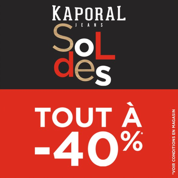 soldes chez kaporal place des halles centre commercial strasbourg. Black Bedroom Furniture Sets. Home Design Ideas