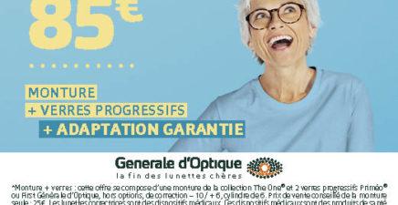 85€ pour mieux voir chez Générale d'Optique