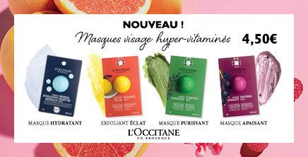 Masques visage hyper-vitaminés chez l'Occitane en Provence