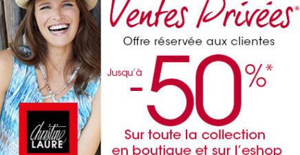 Ventes privées chez Christine Laure jusqu'à -50% en exclusivité !