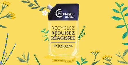 Les éco-recharges de L'occitane en Provence