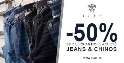Jeans & Chinos chez IZAC