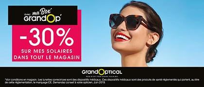 -30% SOLAIRES BOX chez GRANDOPTICAL