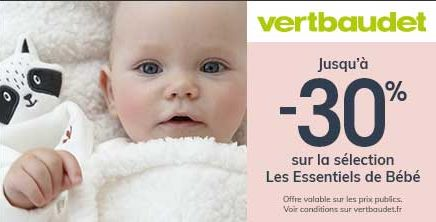 The baby essentials are up to 30%