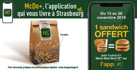 Livraison à Strasbourg avec l'app McDo +