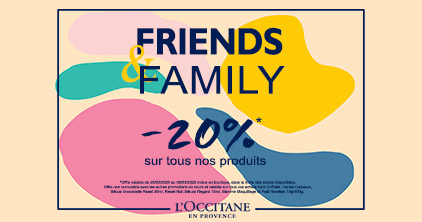 Friends & Family chez L'Occitane !