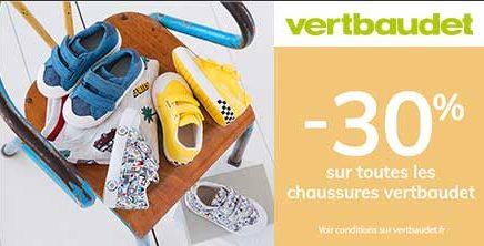 -30% sur toutes les chaussures Vertbaudet