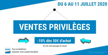 Ventes Privilèges chez Décathlon