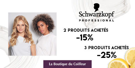 Jusqu'à -30% avec  Schwarzkopf Professionnel!