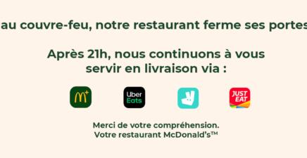 Livraison McDonald's