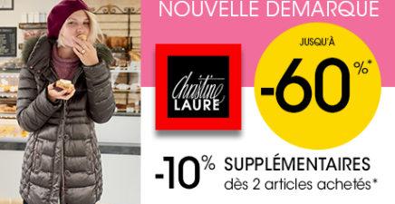 Nouvelle Démarque des magasins Christine Laure