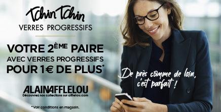 TCHIN TCHIN Verres Progressifs chez Alain Afflelou