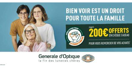 Générale d'optique : See conditions in stores
