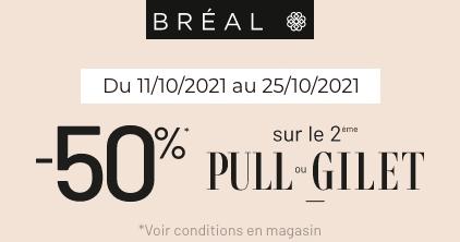 Offre pull ou gilet chez Bréal